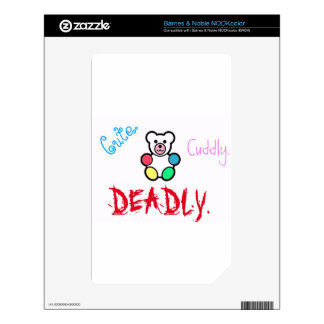Cute.Cuddly.Deadly Skin For The NOOK Color