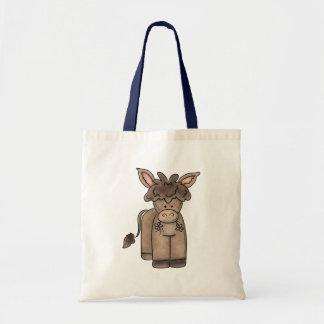 Cute Cuddly Little Burro Budget Tote Bag