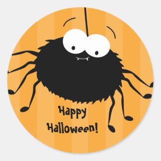 Cute Cuddly Spider Halloween Envelope Seals Classic Round Sticker