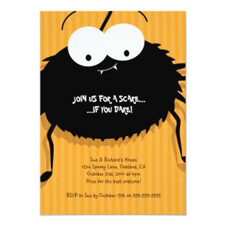 Cute Cuddly Spider Halloween Party Invitation