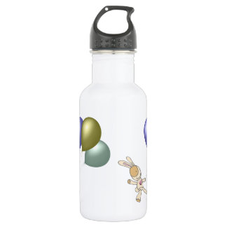 Cute Cuddly Toy and Balloons Art Stainless Steel Water Bottle