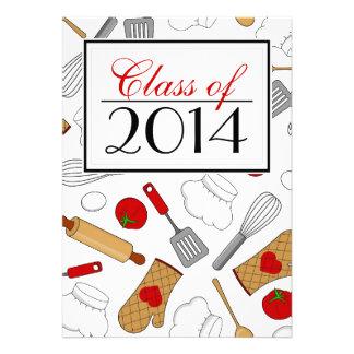 Cute Culinary School Graduation Invite