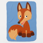 Cute Cunning Cartoon Fox Baby Blanket