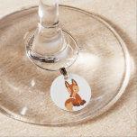 Cute Cunning Cartoon Fox Wine Charm