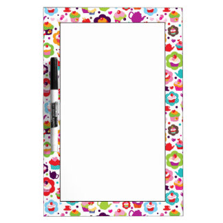 Cute cup cake and tea pot dry erase board