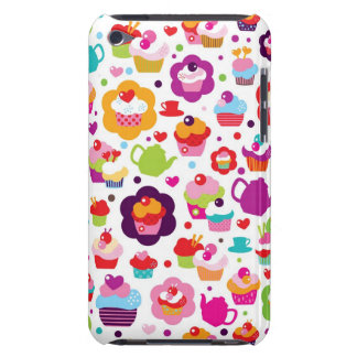 Cute cup cake and tea pot iPod touch Case-Mate case