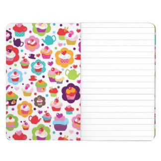 Cute cup cake and tea pot journal