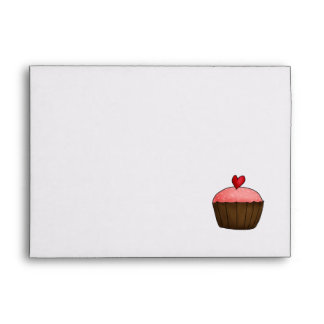 Cute Cup Cake Heart Home Bakery Envelope