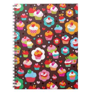 Cute Cup Cake Pattern Notebook