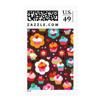 Cute Cup Cake Pattern Stamps