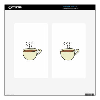 CUTE CUP OF COFFEE KINDLE FIRE DECALS