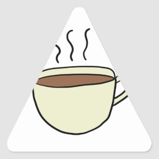 CUTE CUP OF COFFEE TRIANGLE STICKER