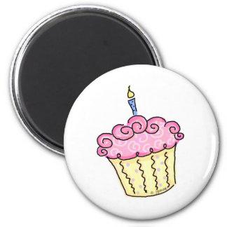 Cute Cupcake 2 Inch Round Magnet
