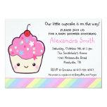 Cute Cupcake Baby Shower 5x7 Paper Invitation Card