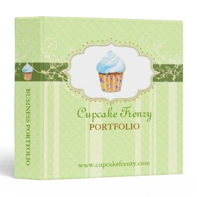 Cute Cupcake Bakery Business Logo Portfolio Binder