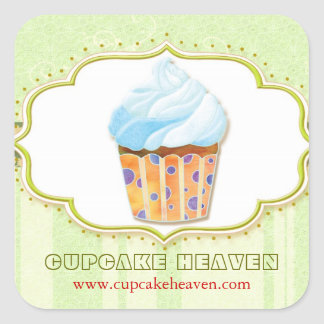 Cute Cupcake Bakery Business Product Label Sticker
