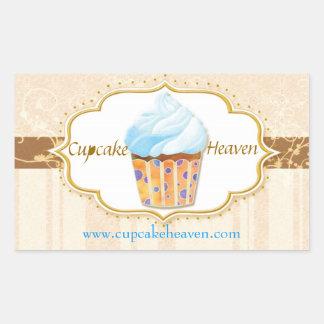 Cute Cupcake Bakery Gourmet Shop Business Stickers