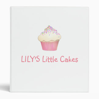 Cute Cupcake Bakery Pastery Chef 3 Ring Binder