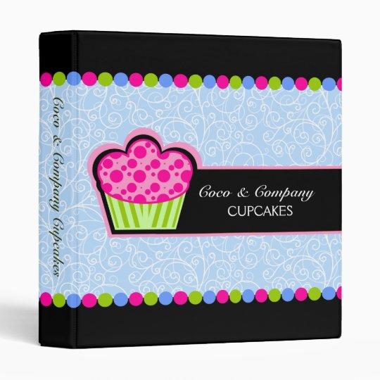 cute cupcake bakery recipe 1 inch 3 ring binder