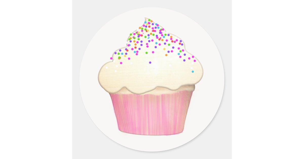Cute Cupcake Bakery Sticker Pastry Chef Zazzle