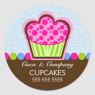 Cute Cupcake Bakery Stickers