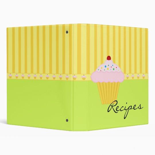 Cute Cupcake Baking Recipes 3 Ring Binder