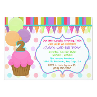 Cute Cupcake Birthday Invitation [two]