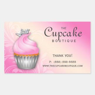 Cute Cupcake Birthday Sticker Crown Pink