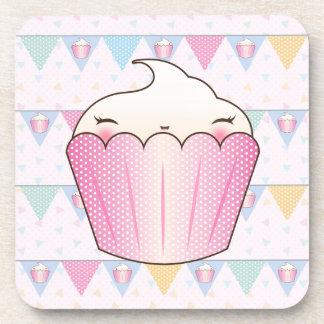Cute Cupcake Bunting Pattern Coasters