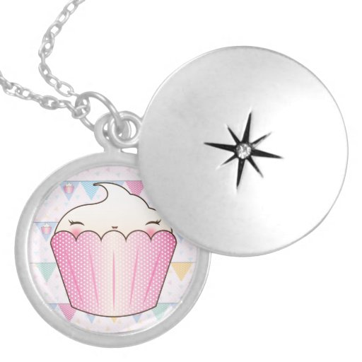 Cute Cupcake Bunting Pattern Necklaces