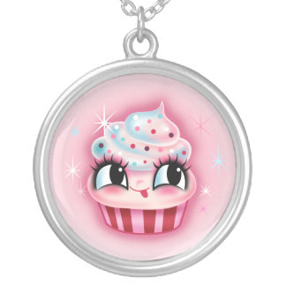 Cute Cupcake by Fluff Personalized Necklace