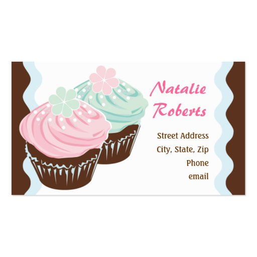 Cute Cupcake Calling Card Double-Sided Standard Business Cards (Pack Of 100)