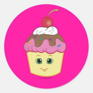 Cute Cupcake! Classic Round Sticker