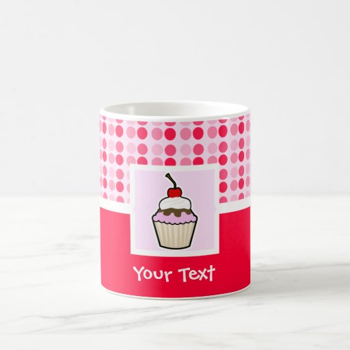 Personalized Pink Polka Dot Cupcake Cup