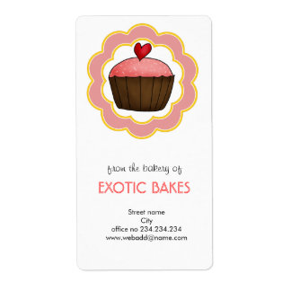 Cute Cupcake Home Made Bakery Business Label