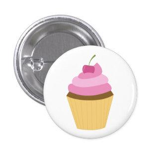 Cute Cupcake Illustration Pinback Button