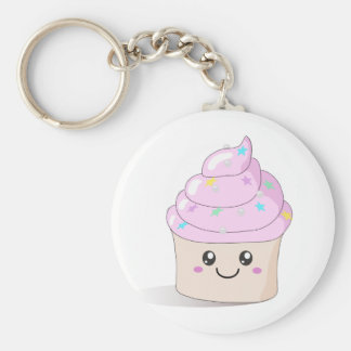 Cute Cupcake Basic Round Button Keychain