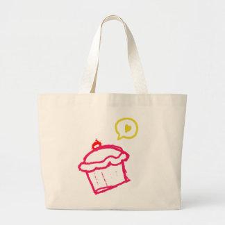 Cute Cupcake Love Jumbo Tote Bags