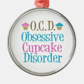 Cute Cupcake Metal Ornament