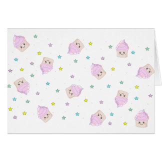 Cute cupcake pattern card
