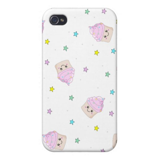 Cute cupcake pattern cases for iPhone 4