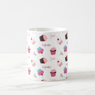 cute cupcake pattern coffee mug