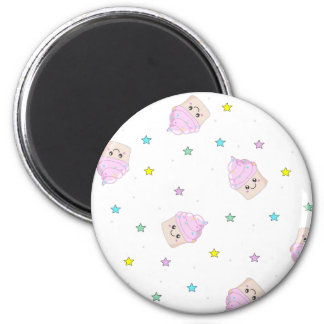 Cute cupcake pattern magnets
