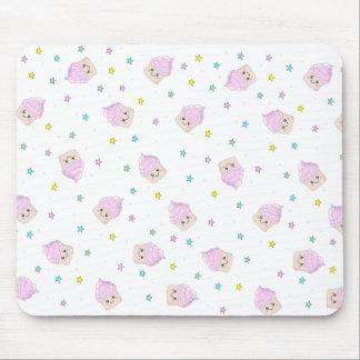 Cute cupcake pattern mouse pad