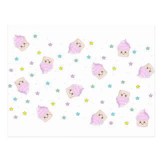 Cute cupcake pattern post cards