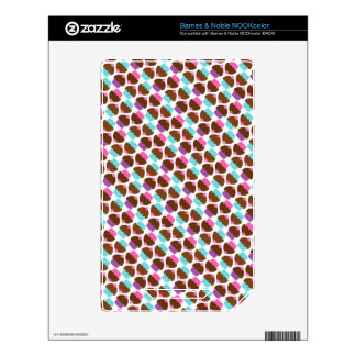 Cute Cupcake Pattern Skins For The NOOK Color