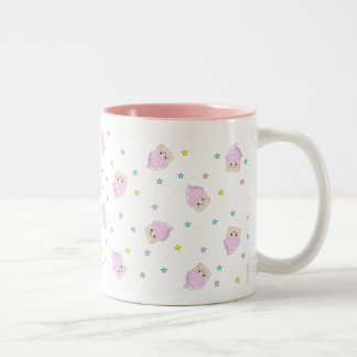 Cute cupcake pattern Two-Tone coffee mug