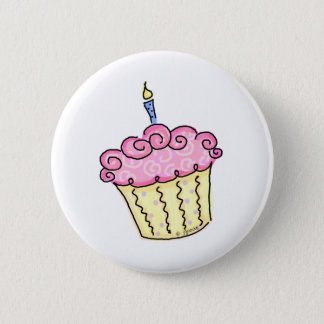 Cute Cupcake Pinback Button