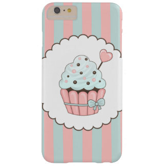 Cute Cupcake Pink & Mint Blue Design Barely There iPhone 6 Plus Case