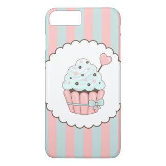Cute Cupcake Pink & Mint Blue Design iPhone 8 Plus/7 Plus Case